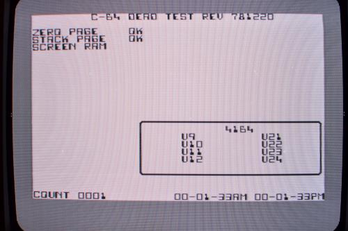 Commodore 64 motherboard Dead test